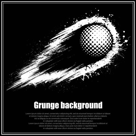Grunge black golf background 版權商用圖片 - 132512724