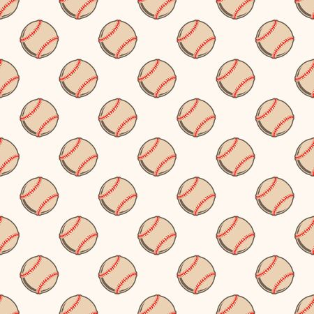 Seamless color baseball background