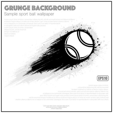Grunge white tennis splash moving 向量圖像