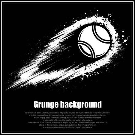 Grunge black tennis background Иллюстрация