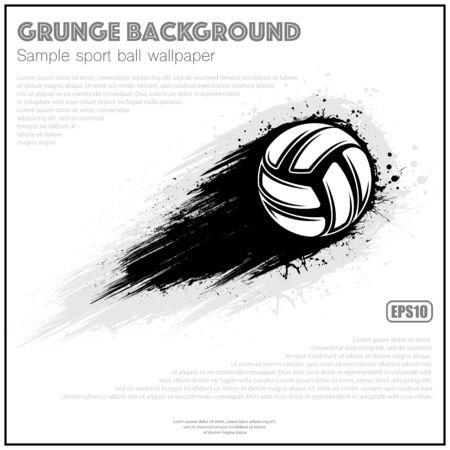 Grunge white volleyball splash moving