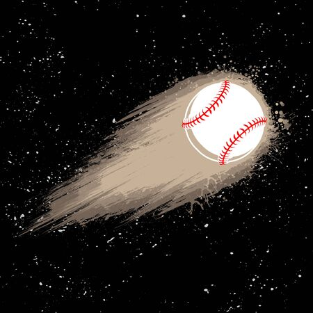 Space comet baseball background 版權商用圖片 - 132512730