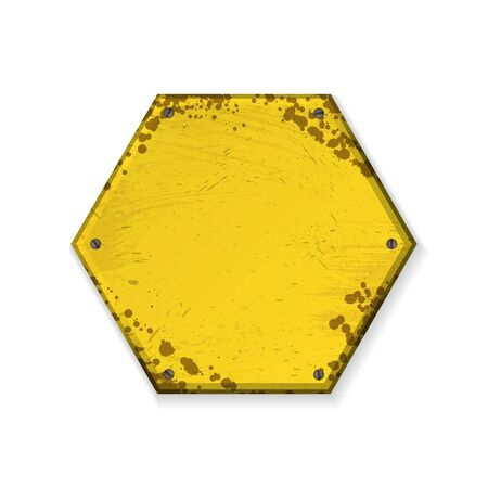 Hexagon yellow grunge frames