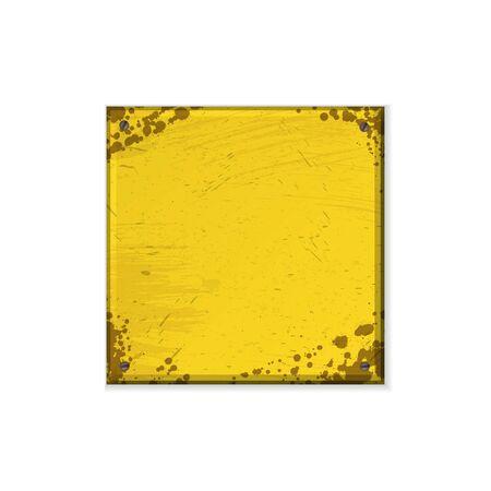 Square yellow grunge frame 版權商用圖片 - 132512732