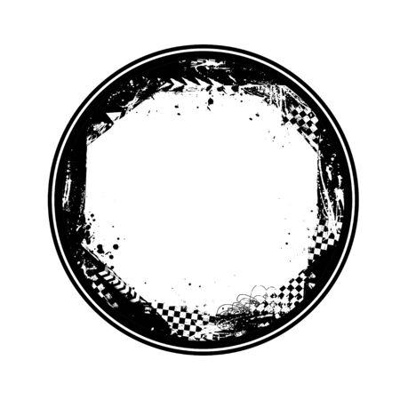 Black circle grunge race frame Иллюстрация