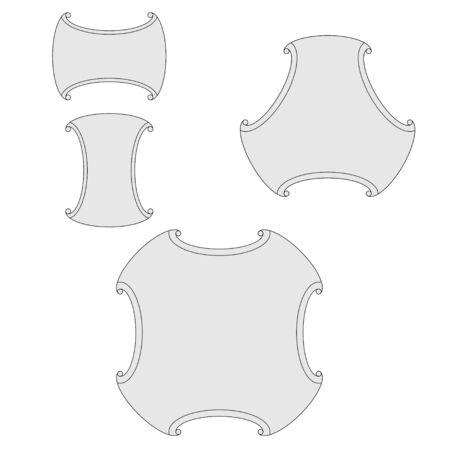 Design elements for seamless patterns Иллюстрация