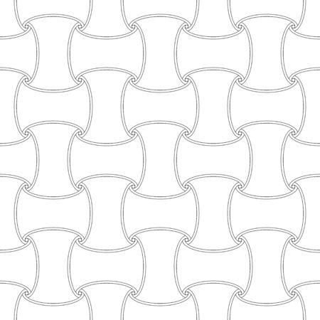 Seamless outline first element pattern background Иллюстрация