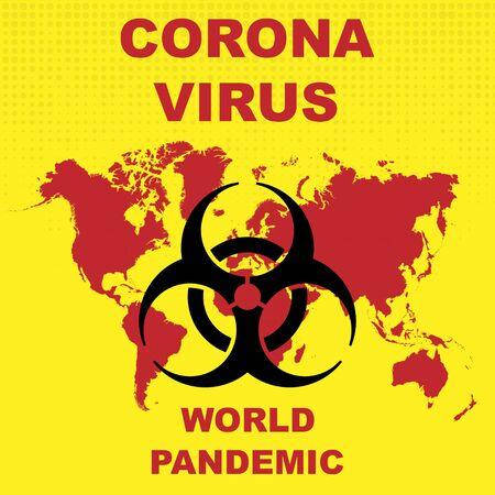 Coronavirus pandemic background