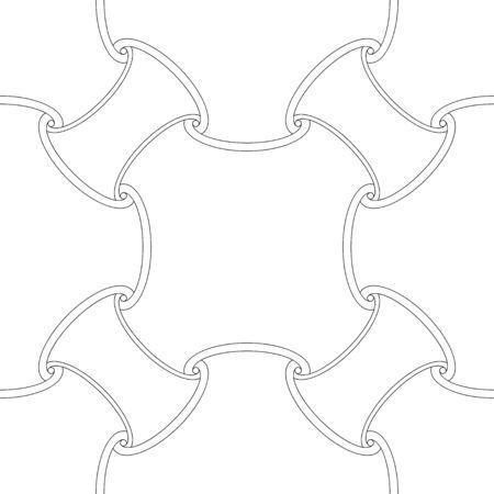 Seamless outline third element pattern background 向量圖像