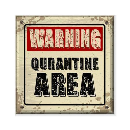 Square yellow warning grunge frame