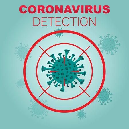 Coronavirus detection background 版權商用圖片 - 143092163