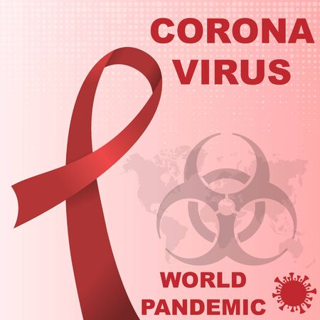 Coronavirus pandemic awareness background