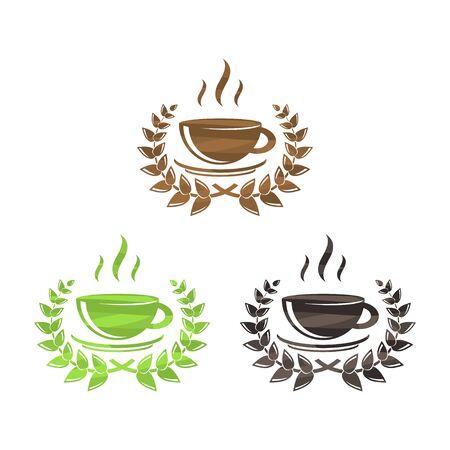 Tea and coffee symbols set 向量圖像