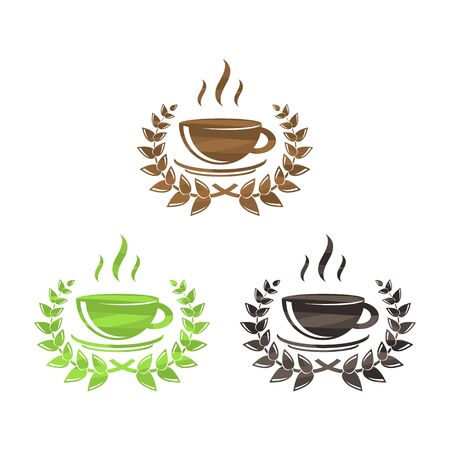 Tea and coffee symbols set Иллюстрация