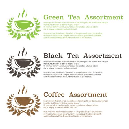 Tea and coffee symbols background 版權商用圖片 - 142962278