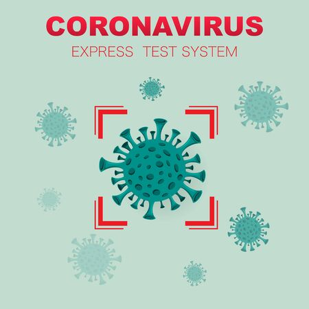Coronavirus detection test system background