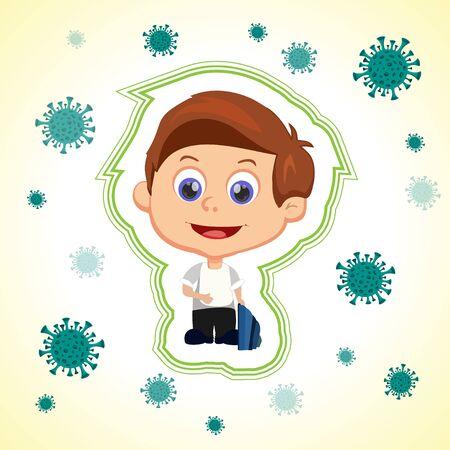 Child virus protection Иллюстрация