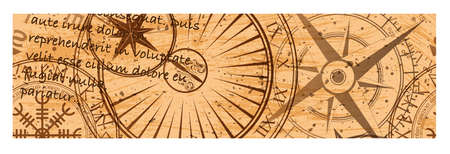 Grunge brown steampunk banner two