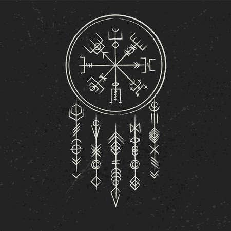 Dark runic symbols dreamer
