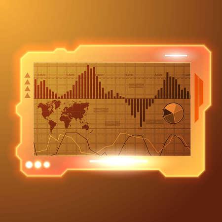 Digital panel light display wallpaper