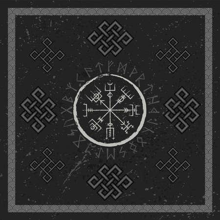 Abstract runic symbols wallpaper