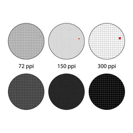 Different ppi circles