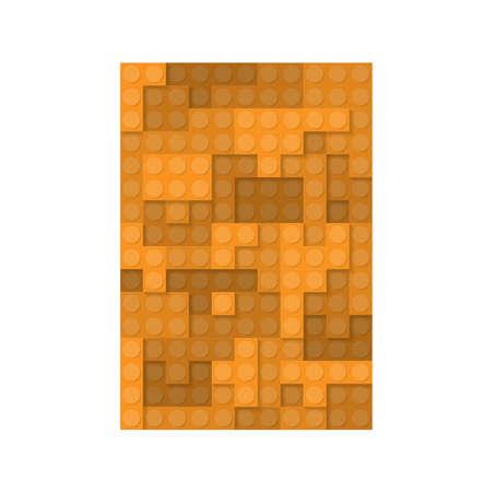 Constraction kit elements orange plate