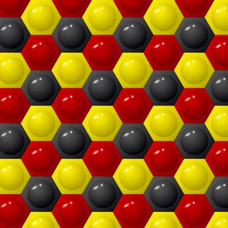 Hexagon three color background