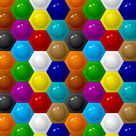 Hexagon color background  イラスト・ベクター素材