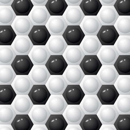 Hexagon football background