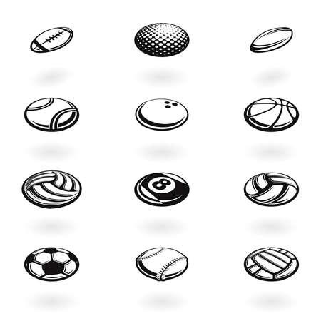 Sport balls isometric perspective symbols
