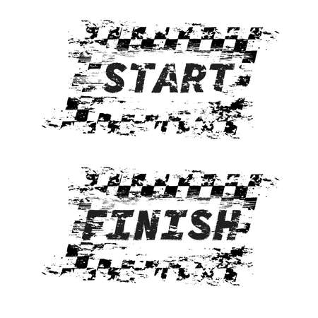 Start and finish sport flags