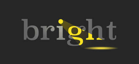 Yellow light with word bright