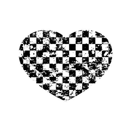Heart sport flag background