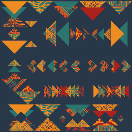 Abstract boho tribal pattern wallpaper