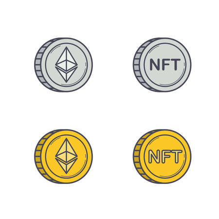 Ethereum and NFT coins set