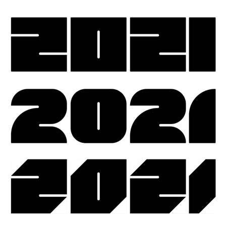 2021 year numbers Vettoriali