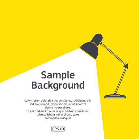 Table light dark colour with sample text Vettoriali