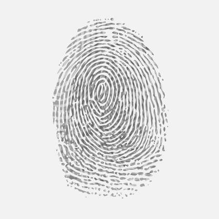 Fingerprint ID grey background