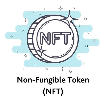 NFT outline coin
