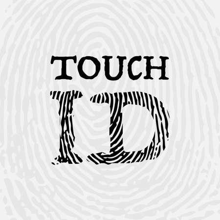 Fingerprint ID background text