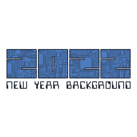 2022 circuit board year numbers Vettoriali