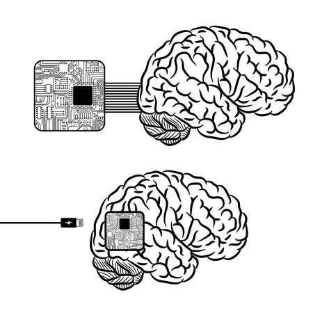 Brain microscheme charging background