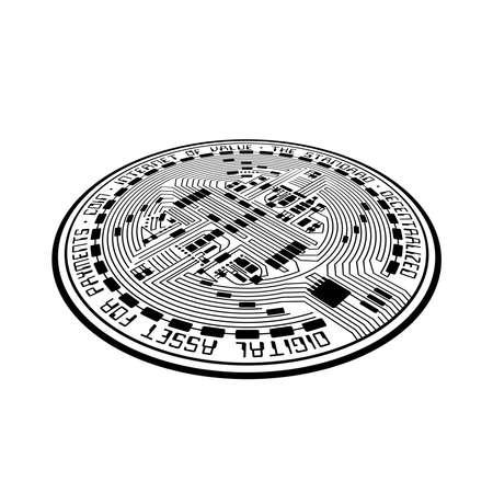 Crypto coin empty perspective Vettoriali
