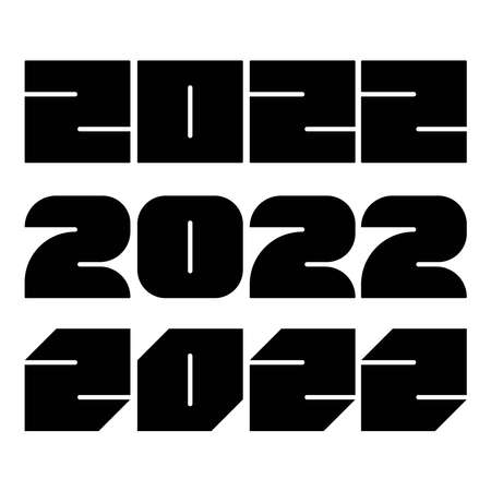 2022 year numbers background