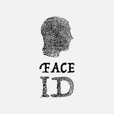 Face ID background with fingerprint