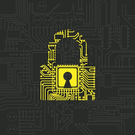 Digital padlock security pattern