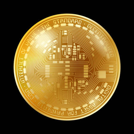 Empty coin gold background