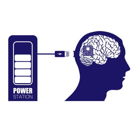 Brain in head charging