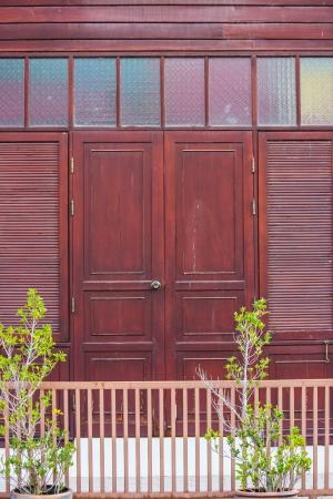 wooden entrance photo